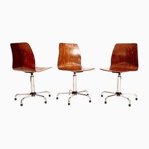 Swivel Chairs, Set of 3