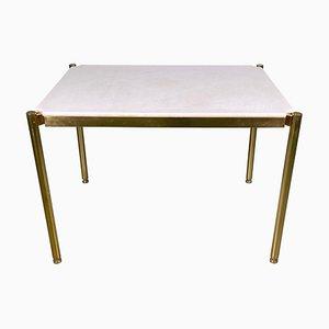 Tavolo basso in ottone e marmo Sivec di Osvaldo Borsani per Tecno