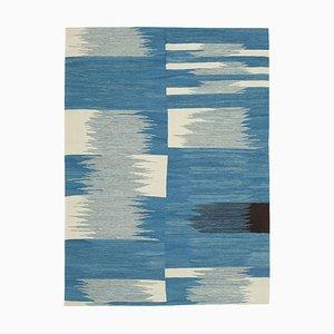 Blue Contemporary Area Rug