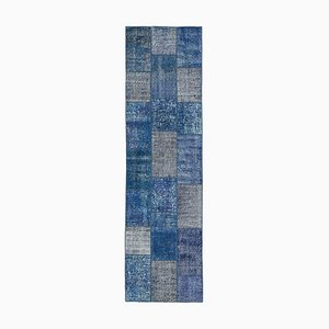 Blue Patchwork Runner Rug