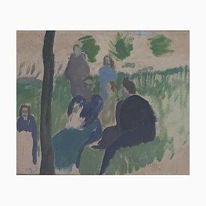 Alfred Reth, Reunión en el jardín, 1925