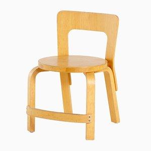 Sedia da bambino N65 di Alvar Aalto per Artek