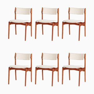 Model 49 Teak Dining Chairs by Erik Buch for O.D. Møbler, Set of 6