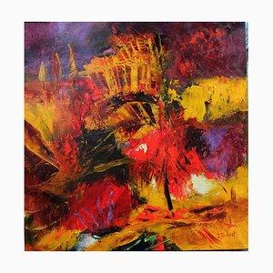 French Contemporary Art, Josette Dubost, L'arbre Rouge, 2019