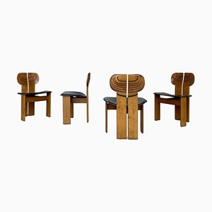 Africa Dining Chairs by Afra & Tobia Scarpa for Maxalto, 1975, Set of 4