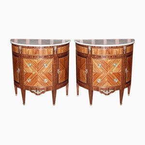 Chests of Drawers in Rosewood Veneer, Late 19th Century, Set of 2