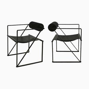 Mid-Century Modern Stühle von Mario Botta für Alias, 1982, 2er Set