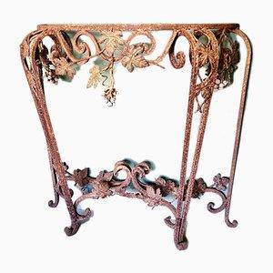 Table Console Antique en Métal