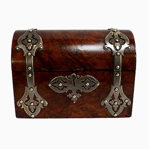 Renaissance Style Curved Chest in Solid Walnut, 19th Century