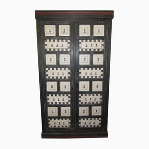 Painted Chessboard Wardrobe or Cabinet