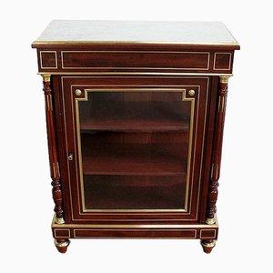 Napoleon III Showcase Cabinet in Solid Mahogany, 19th Century