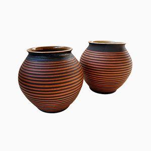 Bauhaus Vasen von Kurt Feuerriegel, 2er Set