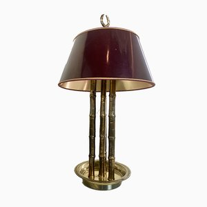 Faux Bamboo & Brass Table Lamp, 1970's