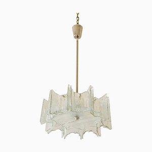 Lámpara de araña austriaca de vidrio esmerilado de JT Kalmar para Kalmar, años 60