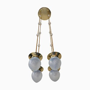 Opaline Glass Pendant Lamp from Jugendstil