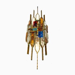 Einzelne Wandlampe aus Murano Glas von Longobard, 1960er
