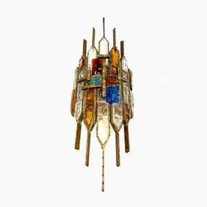 Single Wall Lamp in Murano Glass from Longobard, 1960s