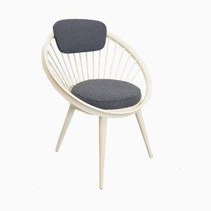 Schwedischer Vintage Circle Chair von Yngve Ekström, 1960er
