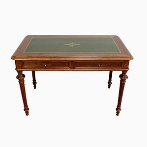 Louis XVI Style Solid Walnut Desk, Early 20th Century
