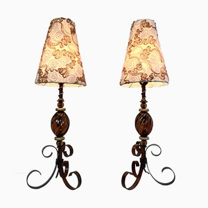 Japanese Table Lamps From Tarogo, 1980s, Set of 2