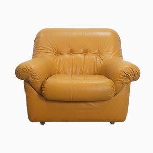 Vintage Cognac Leather Lounge Chair, 1960