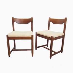Vintage Danish Teak Dining Chairs, 1960s, Set of 2
