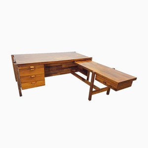 Brazilian Rosewood Desk by Jorge Zalszupin for L'atelier San Paulo, 1960s