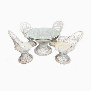 Set da giardino vintage in fibra di vetro di Russell Woodard, set di 5