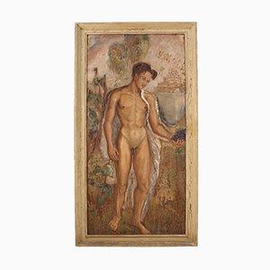 Pintura de desnudo masculino italiano, 1938