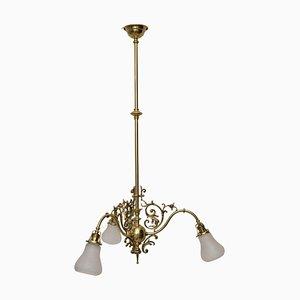 Lámpara de techo de vidrio de finales del siglo XIX