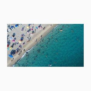 Luftbild von Summer Sea Beach C-Type Druck von Jasmin Merdan