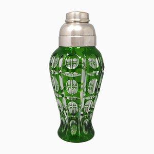 Shaker à Cocktail Bohémien Vert, Italie, 1960s