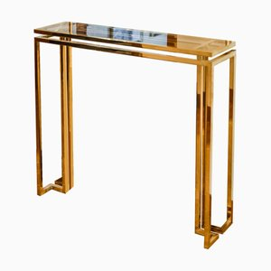 Brass Console F-95 by Rafal Rokowski for GO.OUD - furniture of brass