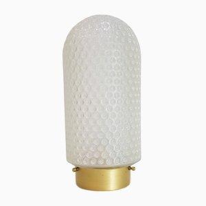 Vintage Deckenlampe aus Milchglas in Gold von Peill & Putzler, 1960er
