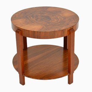 Art Deco Walnut Coffee Table, 1920s