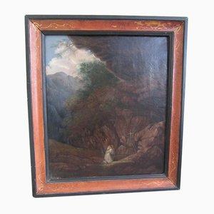 Pintura al óleo antigua de San Francisco, década de 1800