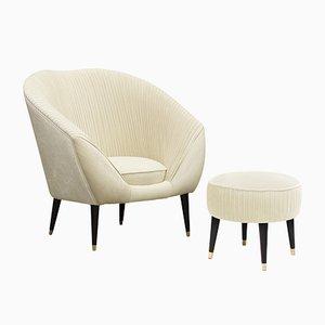 Sedia Audrey con poggiapiedi di Covet Paris