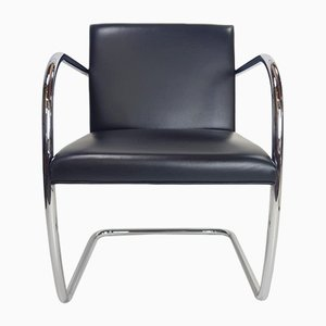Bauhaus Leather Dining Chairs by Ludwig Mies Van Der Rohe for Knoll Inc. / Knoll International, 1980, Set of 8