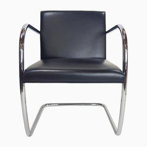 Sedie da pranzo Bauhaus in pelle di Ludwig Mies Van Der Rohe per Knoll Inc. / Knoll International, 1980, set di 8