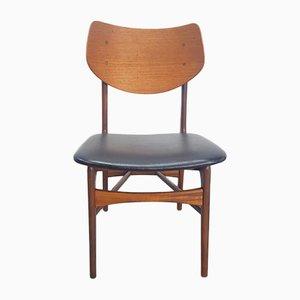 Vintage Teak Chair by Louis Van Teeffelen for Wébé, 1958