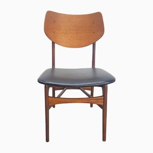 Vintage Teak Stuhl von Louis Van Teeffelen für Wébé, 1958