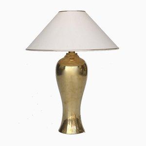 Lampada a forma di balaustro in ottone, anni '70