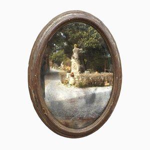 Großer ovaler Spiegel mit Rahmen aus dem 17. Jahrhundert