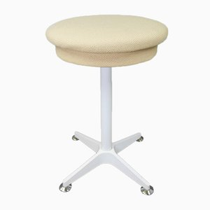 White Metal Stool from Bremshey & Co., Germany, 1970s