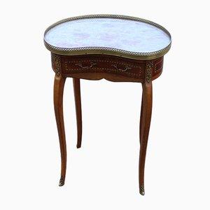 Mahogany & Marble Side Table, 1920s
