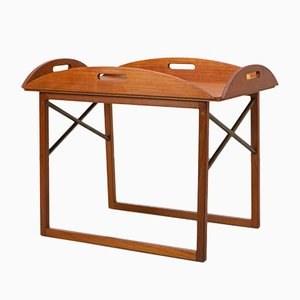Teak and Brass Side Table by Svend Langkilde for Illums Bolighus, 1960s