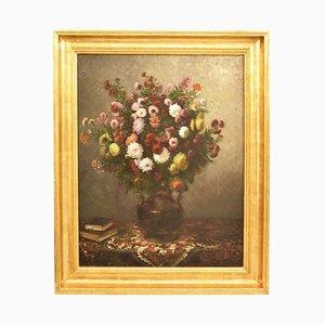 Pintura antigua, óleo sobre lienzo, siglo XIX