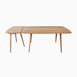 Mesa de comedor Plank y mesa extensible de Lucian Ercolani para Ercol. Juego de 2