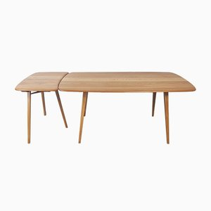 Plank Dining Table & Extension Table by Lucian Ercolani for Ercol, Set of 2