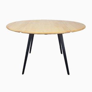Mesa de comedor negra de Lucian Ercolani para Ercol